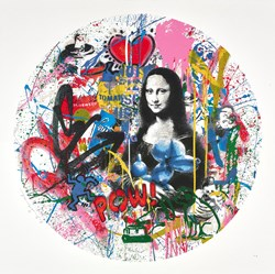 Roundabout - Mona Lisa by Mr. Brainwash - Limited Edition on Paper sized 28x28 inches. Available from Whitewall Galleries