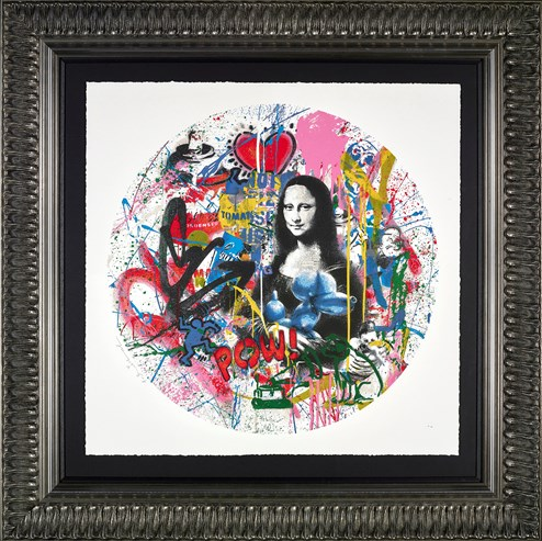 Roundabout - Mona Lisa by Mr. Brainwash - Framed Limited Edition on Paper